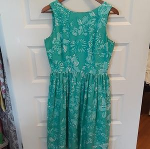 90s Lilly Pulitzer Vintage 100% Silk Party Dress